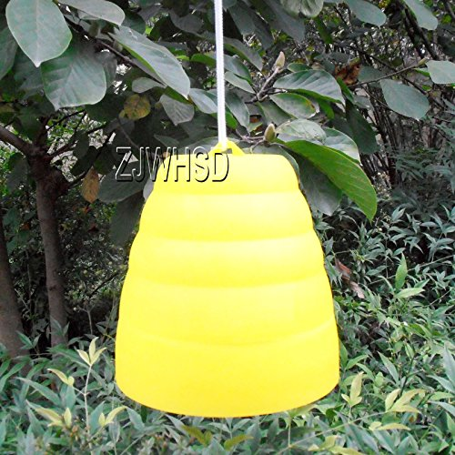 yellow-jacket-beehive-shaped-wasp-hornet-fly-insect-trap-bee-attract-catcher-gold-sister