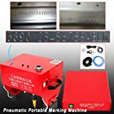 Marking Machine, TBVECHI JMB-170 Pneumatic Dot Peen Portable Marking Machine for VIN Code Chassis Number Kit HOT