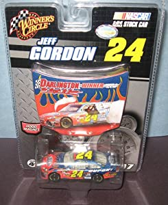 2007 Jeff Gordon #24 Dupont Flames Impala SS Car of Tomorrow COT Rear Wing Front Splitter Darlington Winner May 2007 1/64 Scale Diecast & Bonus Magnet Hood With Victory Burn Out Celebration Winners Circle