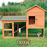 Large Multi Level Rabbit Hutch & Run - Guinea Pig Cage, House, Kennel, Petby Trixie