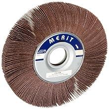 """Merit Grind-O-Flex Abrasive Flap Wheel, 1-3/4"""" Arbor, Ceramic Aluminum Oxide"""