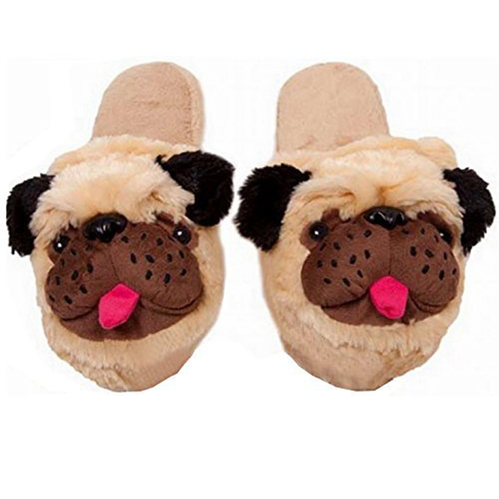 Cute pug slippers