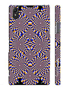 Sony Xperia Z1 PSCYCHEDELIC CIRCLES designer mobile hard shell case by Enthopia