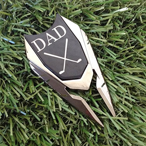 DAD Engraved Golf Ball Marker & Divot Tool / Divot Remover - Dad Gift, Dad Birthday Gift, Gift for Dad, Gift for Him