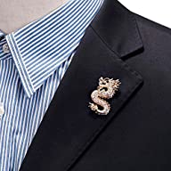 Mens Handmade Vintage Dragon Tie Pin Suit Scarf Hat Brooch