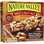 Nature Valley Sweet and Salty, Dark Chocolate Peanut and Almond, 6-count, 7.44oz Box (Pack of 4)