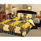 Raymond Magnifique Cotton 5 Piece Double Bedding Set - Yellow
