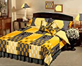 Raymond Magnifique Cotton 5 Piece Double Bedding Set - Yellow