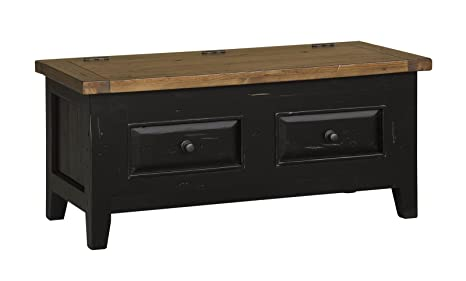 Hillsdale Furniture Tuscan Retreat Blanket Box, Black