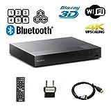 Sony BDP-S6700 Multi Region Blu-ray DVD Region Free Player 110-240 Volts; Dynastar HDMI Cable & Dynastar Plug Adapter Package 4K / WiFi / 3D/ Smart Region Free (Tamaño: 4K Upconversion, Wifi, 3D, Smart, Region Free)