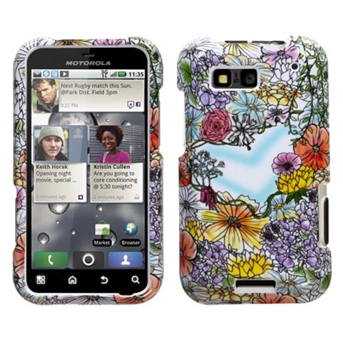 Mybat Motmb525Hpcim697Np Compact And Durable Protective Cover For Motorola Defy Mb525 - 1 Pack - Retail Packaging - Flower Shop