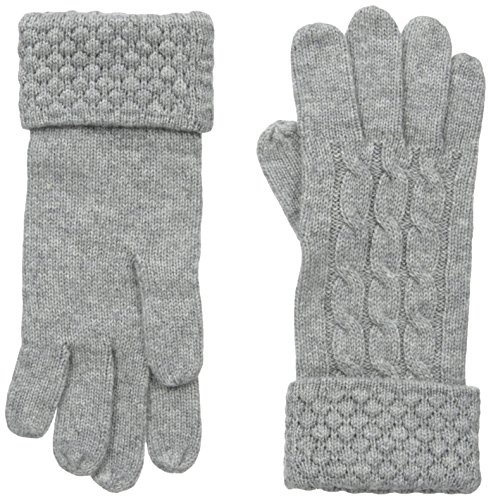 Phenix Cashmere Women's Cashmere Knit Popcorn Stitch Glove, Grey, One Size (Popcorn Blend compare prices)