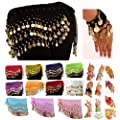 Belly Dance Wrap Hip Scarf Belt Wrist Arm Cuff Costume