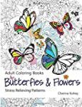 Butterflies & Flowers Adult Coloring...