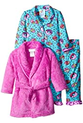 Baby Bunz Baby Girls' 3 Piece Cupcakes Robe and Pajama Set