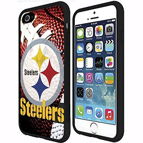 Pittsburgh Steelers Football Sports RUBBER Snap on Phone Case (iPhone 6 Plus) at Steeler Mania