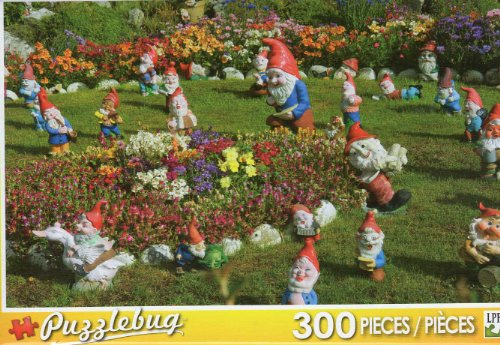 Garden Gnomes - Falkland Islands - 300 Pc Jigsaw Puzzle - NEW by Puzzlebug - 1
