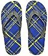 Showaflops Men's Antimicrobial Shower & Water Sandals - Plaid 9/10