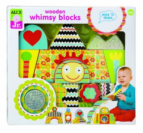 Imagen de Alex Jr. Mix 'N Max Whimsy Bloques de madera de juguete del bebé