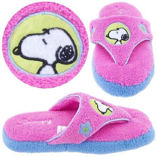Image of Snoopy Pink Thong Style Slippers for Women (B004UND2EO)