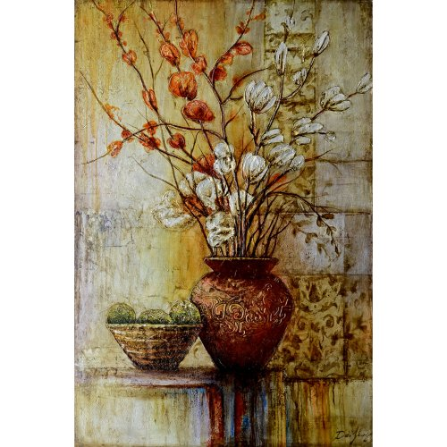Yosemite Home Decor FCF5948QP-2 Abstract Arrangements II Abstract Still Life Hand Painting