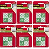 3M Scotch Precut Foam Mounting Squares Heavy Duty, 1 Inch, 16 Count (Pack of 6) Total 96 Squares