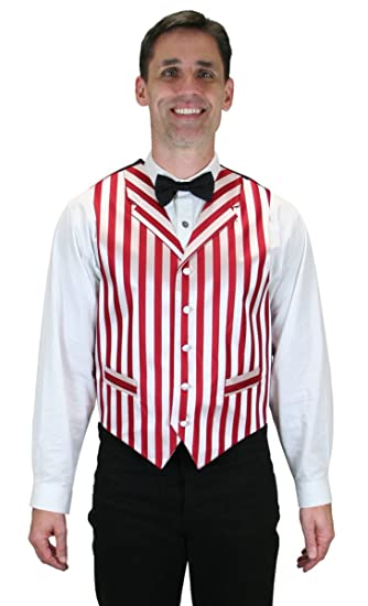 Historical Emporium Mens Striped Ragtime Dress Vest  AT vintagedancer.com
