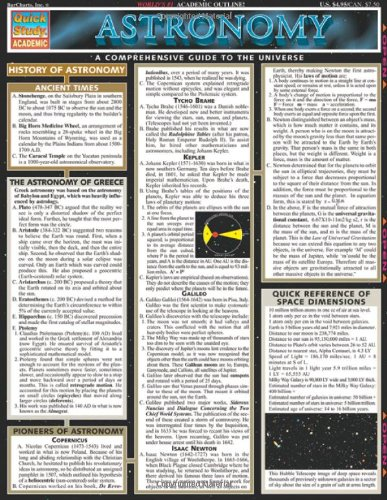 Astronomy (Quickstudy: Academic)
