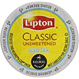Lipton K-Cup Portion Pack for Keurig Brewers, Classic Unsweetened Iced Tea, 24 Count