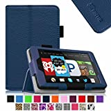 Fintie Fire HD 6 Tablet (2014 Oct Release) Case Slim Fit Leather Standing Protective Cover with Auto Sleep/Wake Feature (will only fit Amazon Kindle Fire HD 6-Inch Tablet 2014 Release), Navy