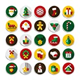 100 Pieces Creative Fashion Steel Thumb Tacks Push Pins Decorative Different Patterns for Photos Wall, Maps, Bulletin Board or Corkboards (Christmas) (Color: Christmas)
