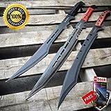 3PC 28'' ZOMBIE NINJA FULL TANG TACTICAL COMBAT WARRIOR SAMURAI MACHETE SWORD SET For Hunting Tactical Camping Cosplay + eBOOK by MOON KNIVES