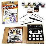 Set de Dibujo  Sculpt Pro para Manga y Comic de 24 piezas con tinta, acuarelas, cuchillos, pluma y puntas de pluma, burrador y lápices