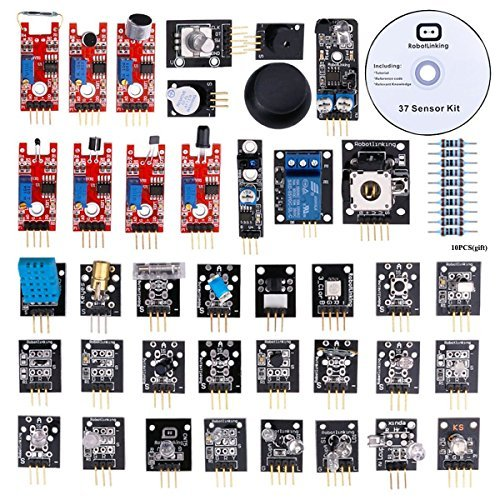 RobotLinking 37-in-1 Sensor Module Kit for Arduino UNO R3 Mega2560 Mega328 Nano (Arduino Sensors compare prices)
