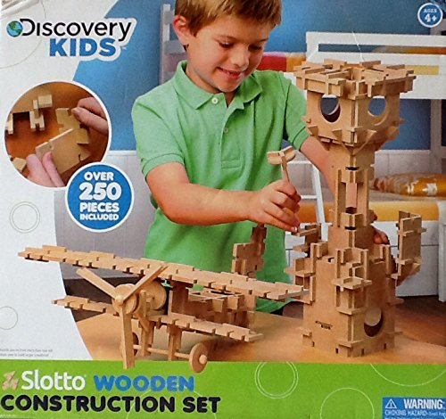 Discovery Kids: Slotto Wooden Construction Set ~ 266 Piece front-991824