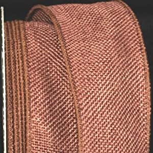 "Milk Chocolate Brown Wired Fine Burlap Craft Ribbon 2"" x 40 Yards"