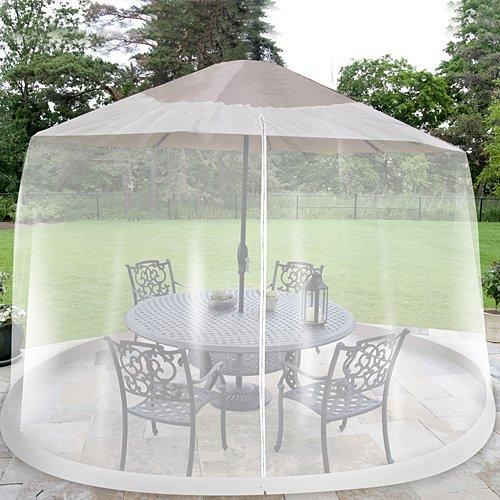 Patio Umbrella Netting: Umbrella Table Screen Insect Cover Outdoor Patio Bug