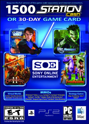 SOE 30 Day Universal Game Card or 1,500 Station Cash - PC