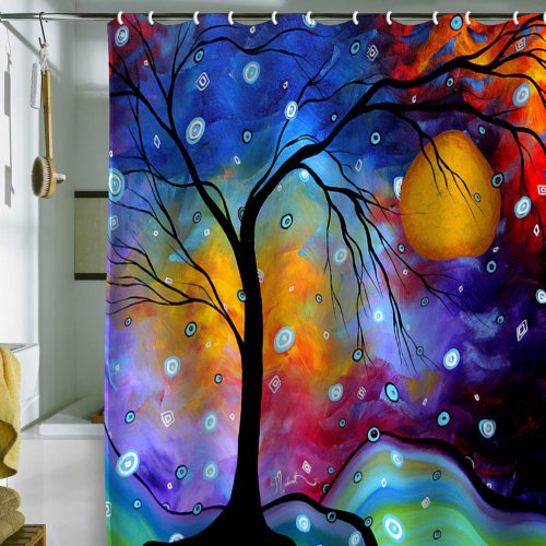 DENY Designs Madart Winter Sparkle Shower Curtain, 69 by 72
