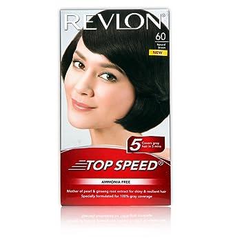 Buy Revlon Top Speed Hair Color Woman, Natural Brown 60 Online at ...