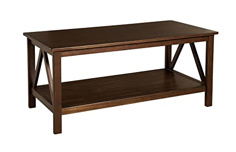 Titian Wood Coffee Table - Antique Tobacco