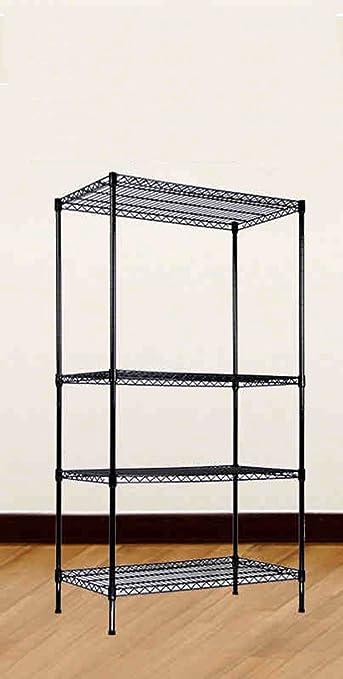 Rack de almacenamiento de uso múltiple Home Shelf Layer Distancia Ajustable Rust Protección del medio ambiente Negro ( Tamaño : 120*40*120cm )