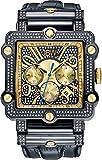 JBW JB-6215-238-F Men's Chronograph Diamond Watch, Black Band