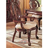 Master Arm Chair in Cherry Finish (Set of 2) by Coaster Furniture