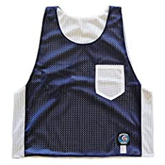Navy and White Pocket Reversible Lacrosse Pinnie