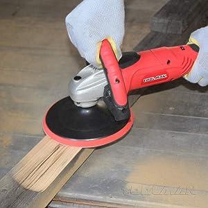 Toolman Compact Polishing Buffer Waxer Sander Machine 7 W/ Wool pad & sandpaper works with DeWalt Makita Accesories