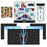 Scrapbook Customs Go Big Skiing Themed Paper and Stickers Scrapbook Kit