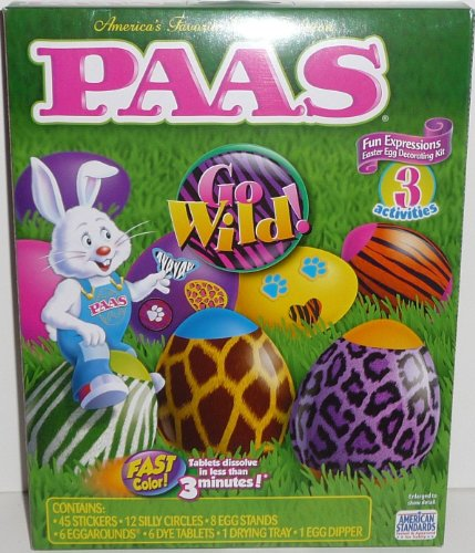 Paas Go Wild! Fun Expressions Easter Egg Coloring and Decorating Kit