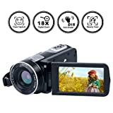 Video Camera Camcorder Full HD Digital Camera 1080p 24.0MP Night Vision Vlogging Camera 18X Digital Zoom With Remote Control (Color: B2)