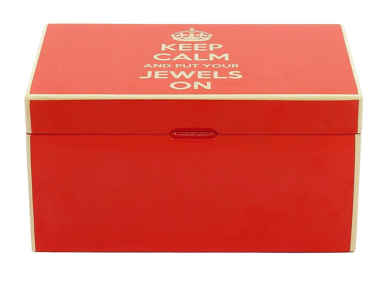 Friedrich|23 Damen-Schmuckkasten Keep Calm rot – 28002-3 als Weihnachtsgeschenk kaufen